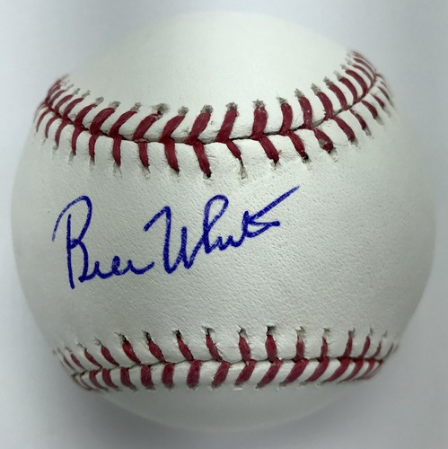 Bill White Autographed Baseball