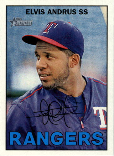 Photo of 2016 Topps Heritage #387 Elvis Andrus