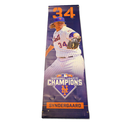 Photo of Noah Syndergaard #34 - Citi Field Banner - 2016 Season