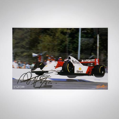 Photo of Mika Häkkinen Signed 'Flying Finn' Photograph