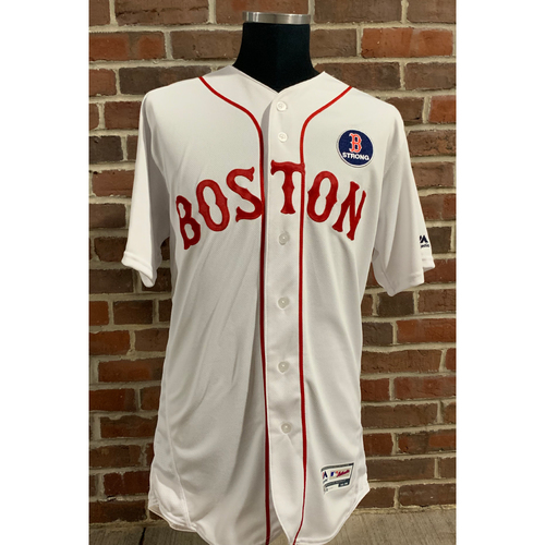 Photo of Red Sox Foundation Jackie Robinson Day - Brian Johnson Game-Used and Autographed Jersey