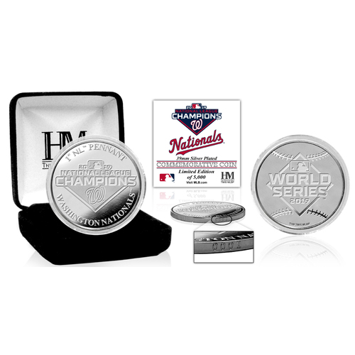 Photo of 2019 Washington Nationals NL Champions Silver Mint Coin