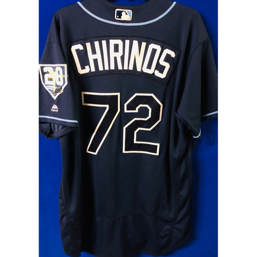 Photo of Game-Used Jersey: Yonny Chirinos (size 48) - September 29, 2018 v TOR - FIRST MLB SEASON