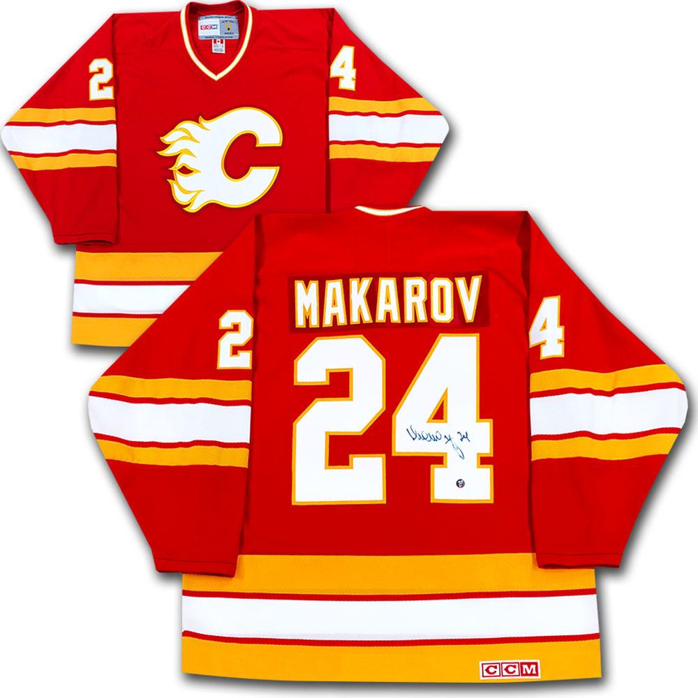 Sergei Makarov Autographed Calgary Flames Jersey