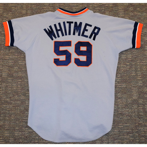 Photo of Dan Whitmer Detroit Tigers #59 Road Jersey (NOT MLB AUTHENTICATED)
