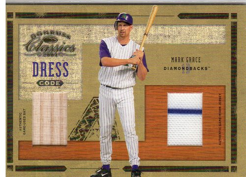 Photo of 2004 Donruss Classics Dress Code Combos Material #17 Mark Grace Bat-Jsy