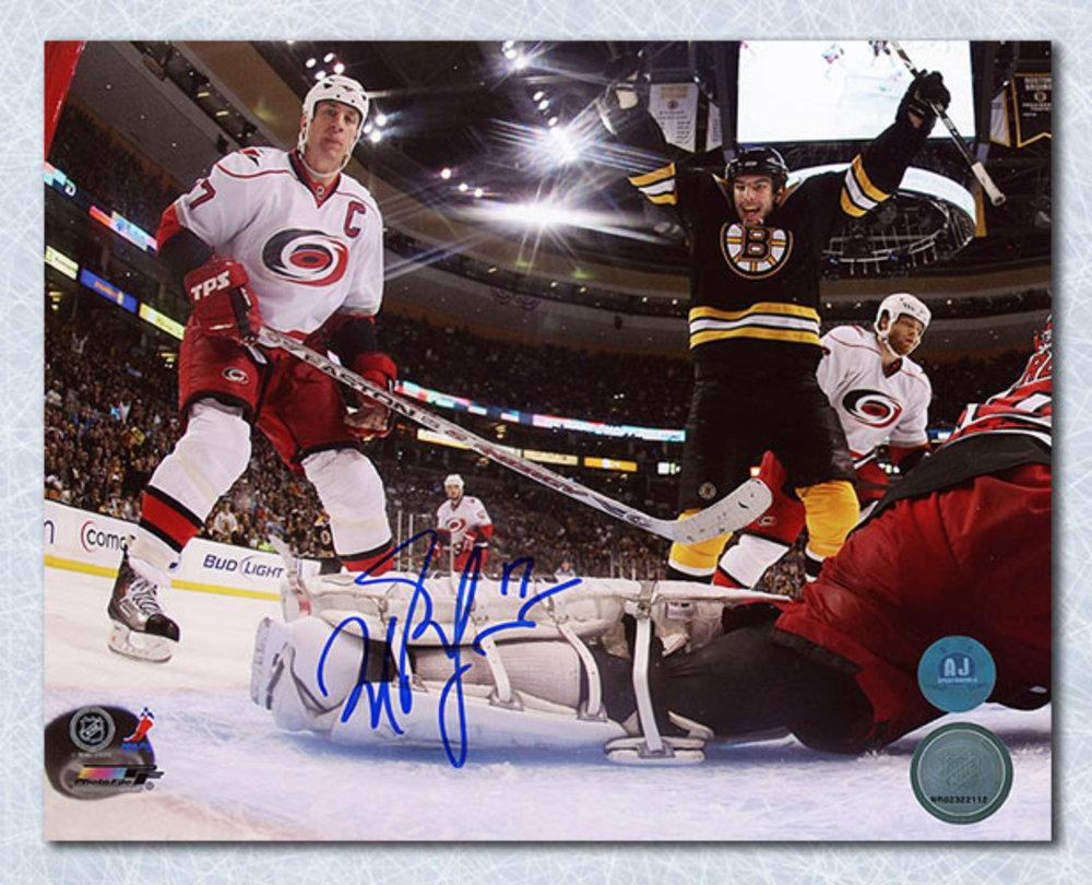 Milan Lucic Boston Bruins Autographed Net Cam Goal Celebration 8x10 Photo c5552923d