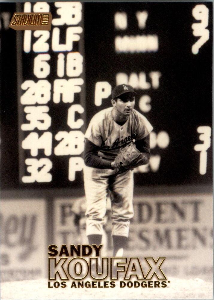 2016 Stadium Club Gold #13 Sandy Koufax