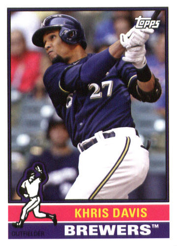 Photo of 2015 Topps Archives #142 Khris Davis UER/Carlos Gomez pictured