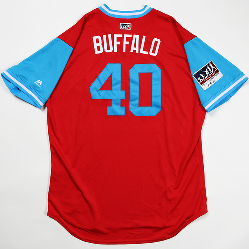 "Photo of Wilson ""Buffalo"" Ramos Philadelphia Phillies Game-Used Jersey 2018 Players' Weekend Jersey"