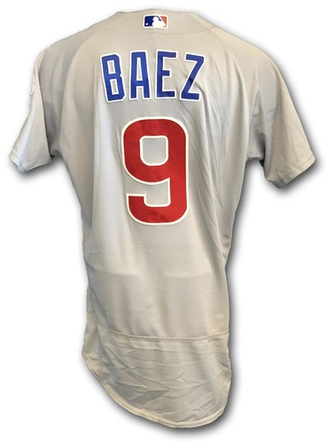 Photo of Javier Baez Game-Used Jersey -- Worn Multiple Times During 2018 Season (See Description for Details)