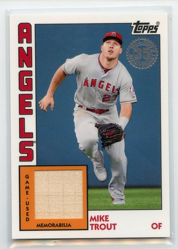 Photo of 2019 Topps '84 Topps Relics #84RMT Mike Trout