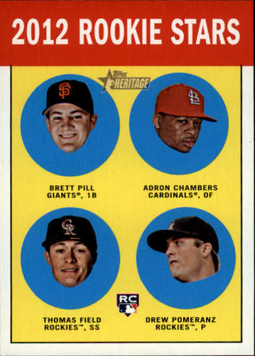 Photo of 2012 Topps Heritage #208 Brett Pill RC/Adron Chambers RC/Thomas Field RC/Drew Pomeranz RC