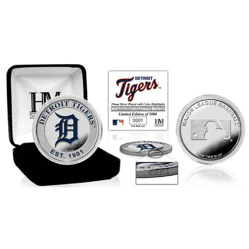 Photo of Serial #1! Detroit Tigers Silver Color Coin