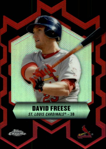 Photo of 2013 Topps Chrome Chrome Connections Die Cuts #CCDF David Freese