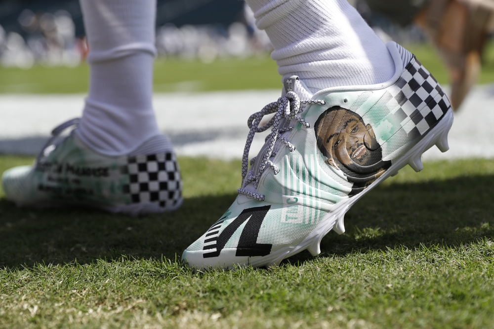 DeSean Jackson Pregame Worn Custom Cleats - Inspired by Nipsey Hussle  - Worn Week 1 (9/8/19)