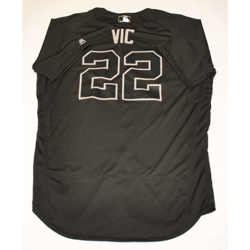 "Photo of Victor ""VIC"" Reyes Detroit Tigers Game-Used 2019 Players' Weekend Jersey"