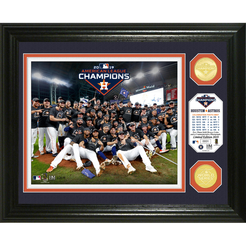 Photo of 2019 Houston Astros AL Champions Celebration Bronze Coin Photo Mint