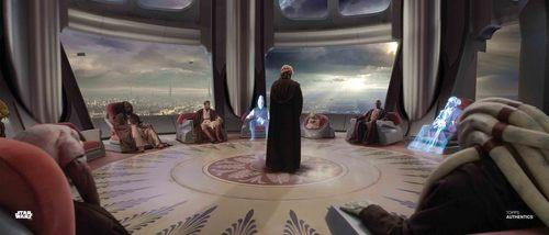 Obi-Wan Kenobi, Anakin Skywalker, Mace Windu and Yoda