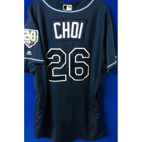 Photo of Game-Used Jersey: Ji-Man Choi (size 50) - September 29, 2018 v TOR