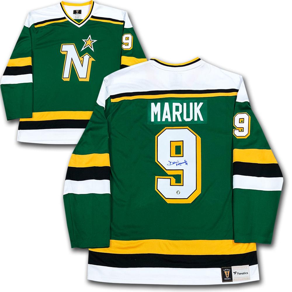 Denis Maruk Autographed Minnesota North Stars Fanatics Heritage Jersey