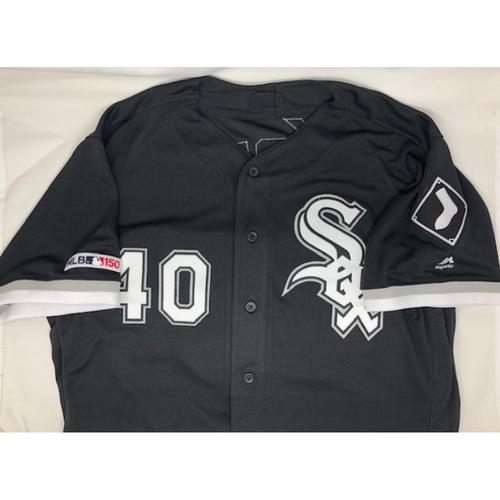 Photo of Reynaldo Lopez Autographed Jersey - Jersey Size 46