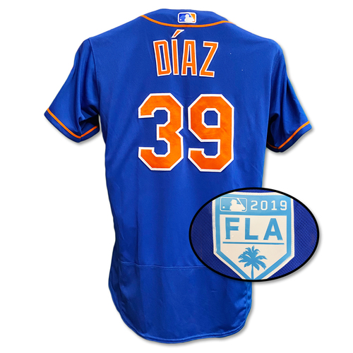 Photo of Edwin Diaz #39 - Team Issued Blue Alt. Home Jersey - 2019 Spring Training