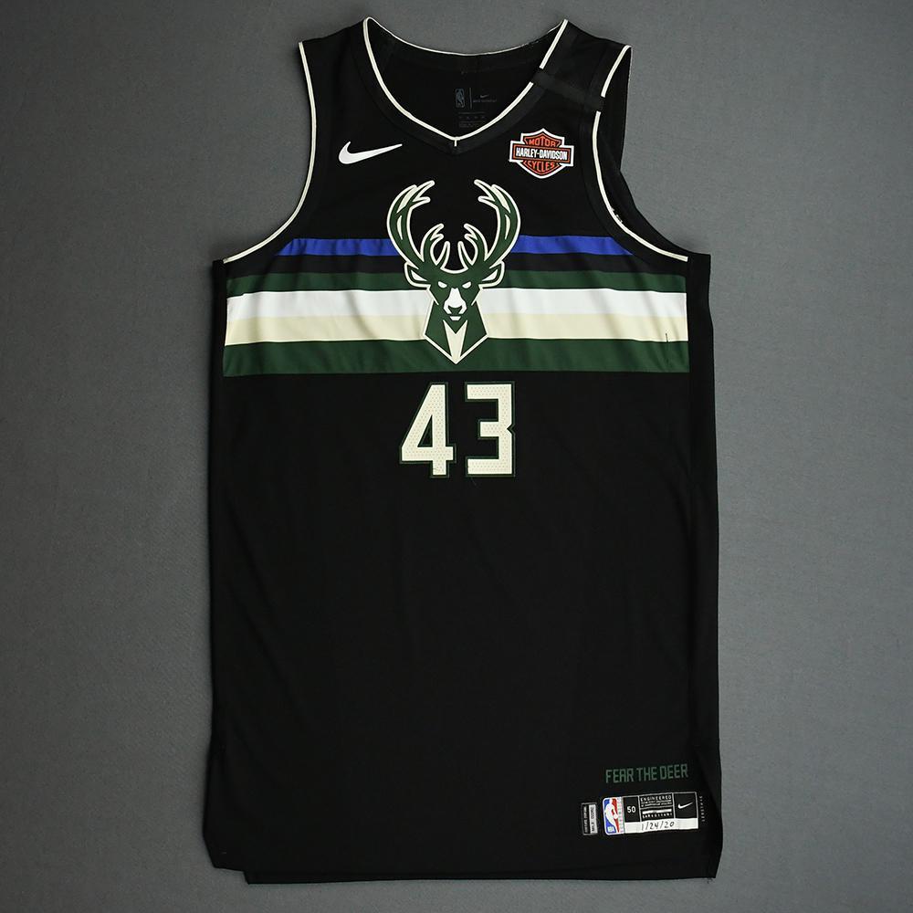 Thanasis Antetokounmpo - Milwaukee Bucks - 2020 NBA Paris Games - Game-Worn Statement Edition Jersey