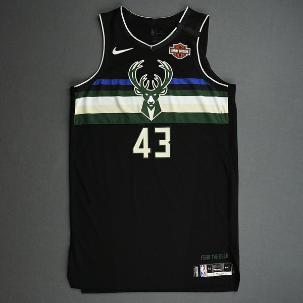 Image of Thanasis Antetokounmpo - Milwaukee Bucks - 2020 NBA Paris Games - Game-Worn Statement Edition Jersey
