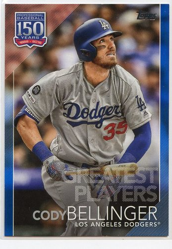Photo of 2019 Topps Update 150 Years of Baseball Blue #15011 Cody Bellinger