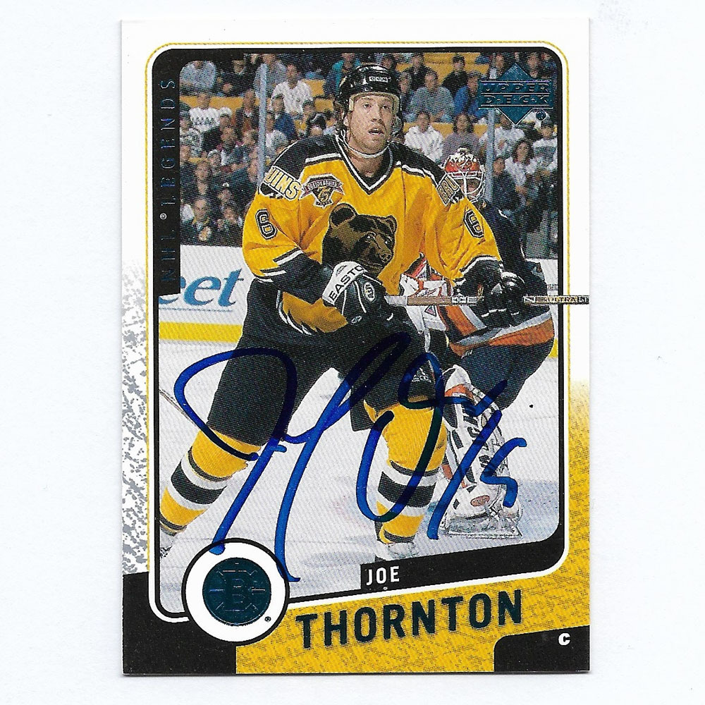 Joe Thornton Autographed 2000 Upper Deck NHL Legends Card