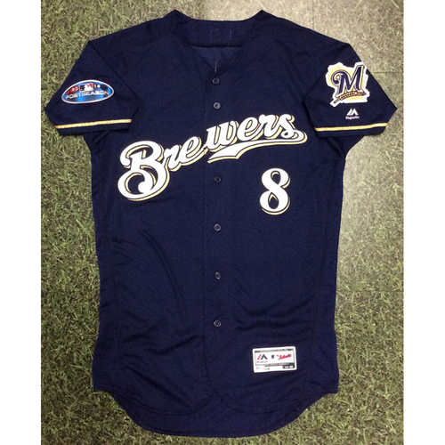 Photo of Ryan Braun 2018 Game-Used Postseason Jersey - NLCS Games 1, 2 & 5