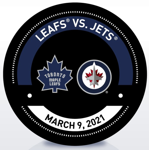 Used Warm-Up Puck TOR vs WPG 3/9/21 (Retro)
