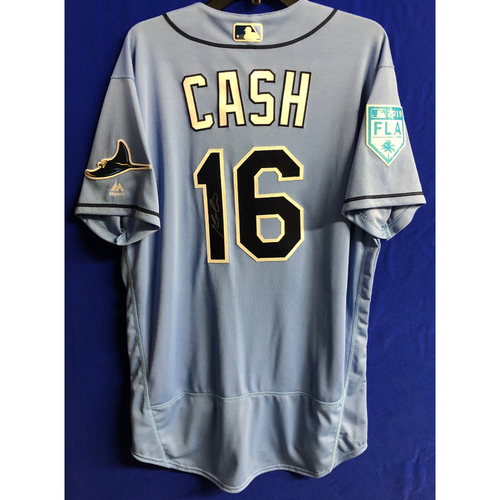 Team Issued Autographed Spring Training Jersey: Kevin Cash - 2019