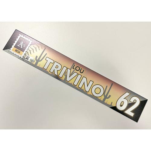 Photo of Game-Used 2021 Spring Training Locker Nameplate - Lou Trivino