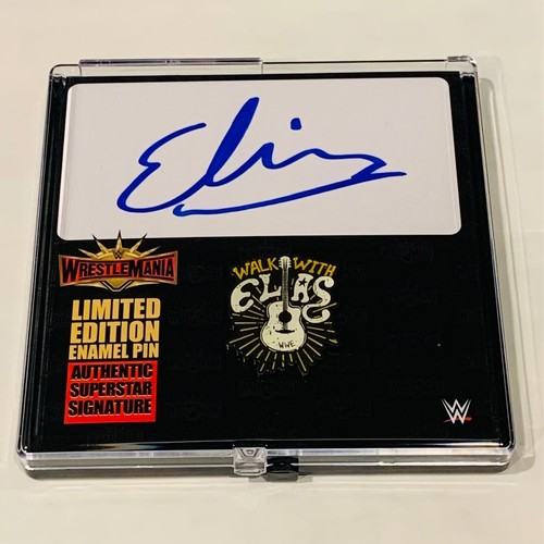Photo of Elias SIGNED WrestleMania 35 Logo Pin