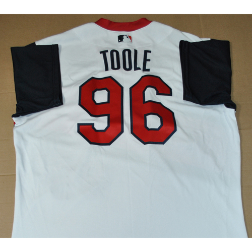Photo of Team Issued Jersey - 2021 Little League Classic - Los Angeles Angels vs. Cleveland Indians - 8/22/2021 - West, Hitting analyst Toole #96