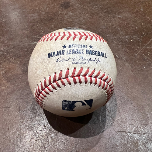 Photo of 2021 NLDS Game 5 Game Used Baseball used on 10/14 vs. LAD - T-5: Logan Webb to Cody Bellinger - Ground Out to Pitcher