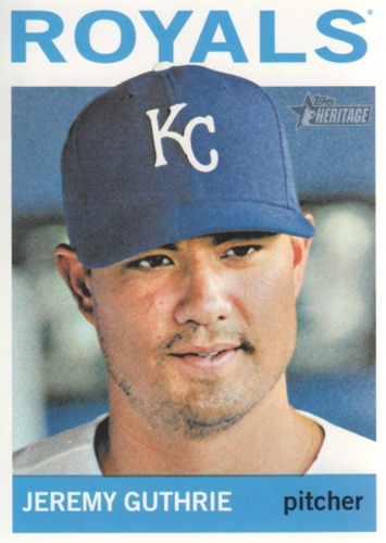 Photo of 2013 Topps Heritage #367 Jeremy Guthrie