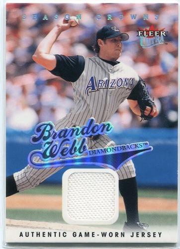 Photo of 2004 Ultra Season Crowns Game Used #164 Brandon Webb Jsy