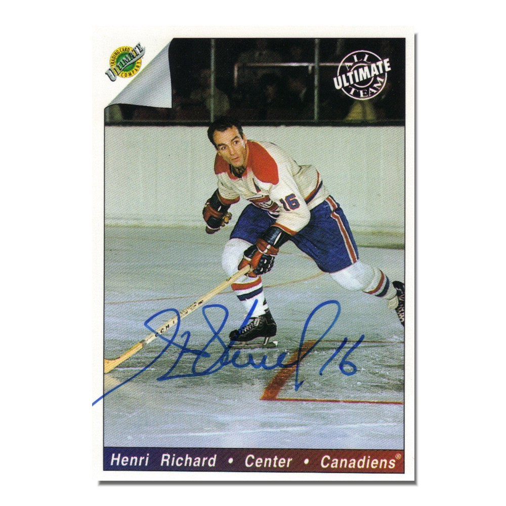 Henri Richard Autographed Montreal Canadiens 1992 Ultimate Trading Card Company Card