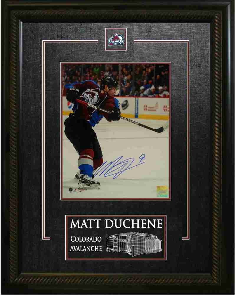 Matt Duchene - Signed & Framed 8x10 Etched Mat - Coloardo Avalanche Action Shot