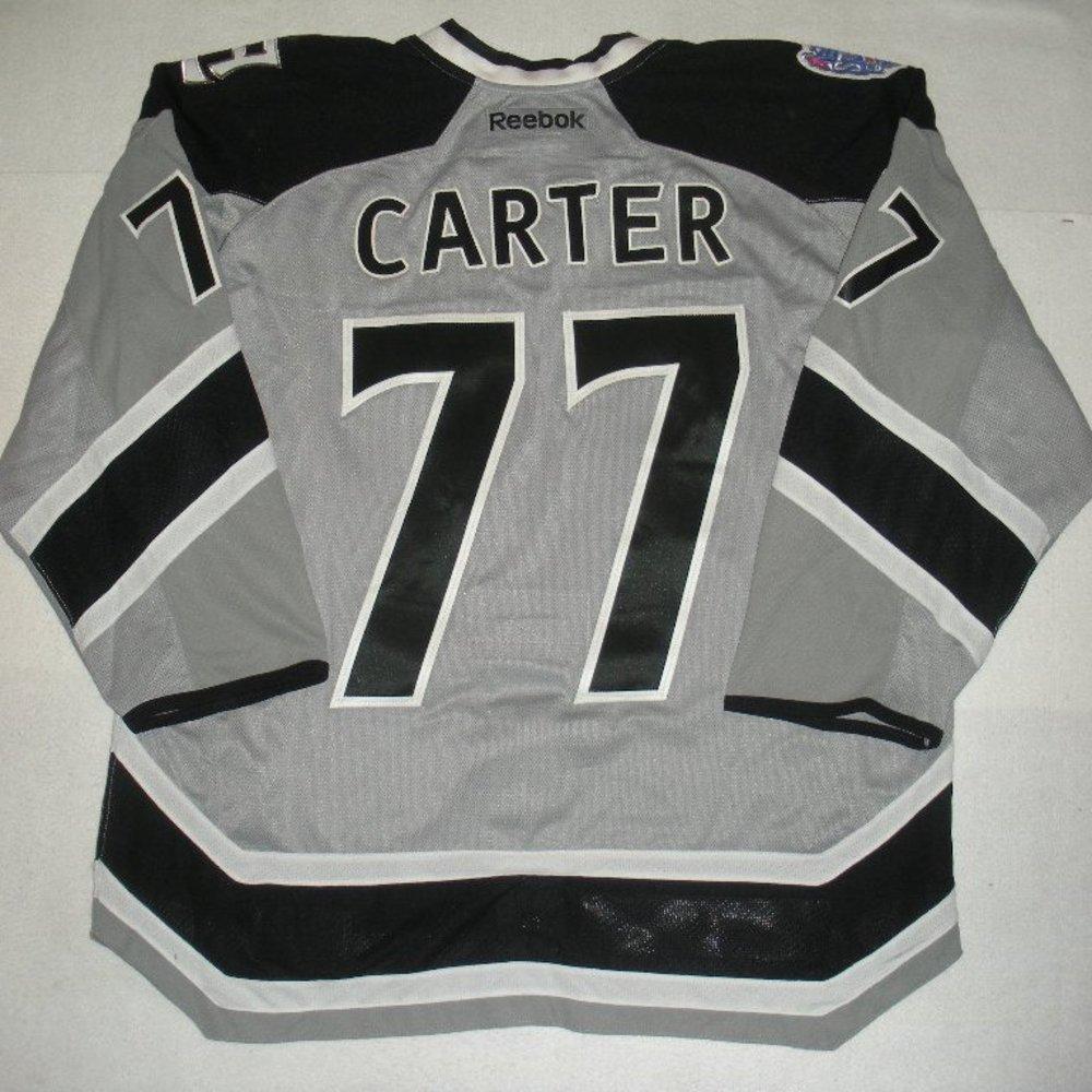 Jeff Carter - 2014 Stadium Series - Los Angeles Kings - Silver Game-Worn Jersey - Worn in First Period