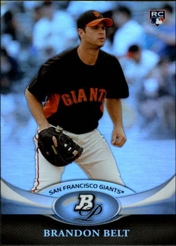 Photo of 2011 Bowman Platinum #52 Brandon Belt Rookie Card