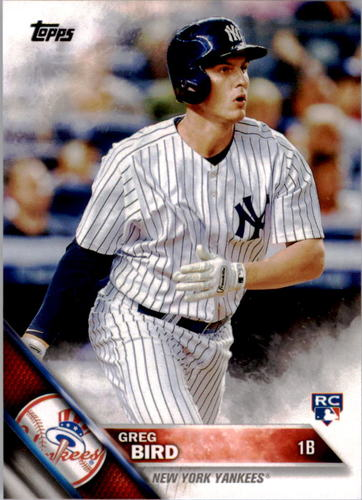 Photo of 2016 Topps #188A Greg Bird Rookie Card