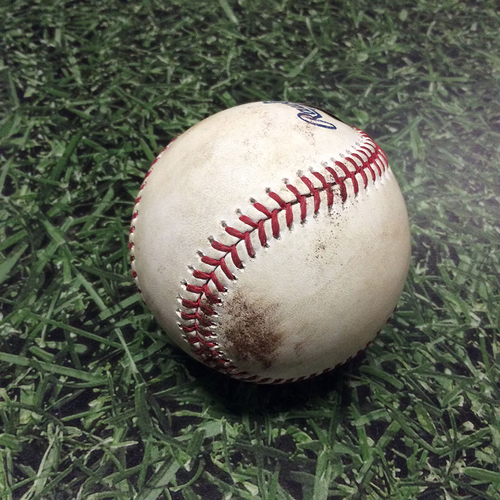 Photo of Game-Used Baseball 06/22/17 PIT@MIL - Chase Anderson to Josh Bell: RBI Single