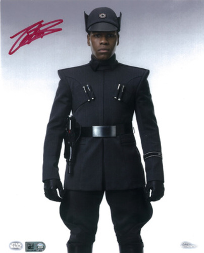 John Boyega as Finn 8x10 Autographed in Red Ink Photo