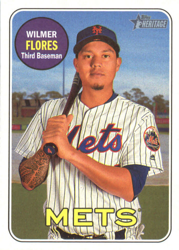 Photo of 2018 Topps Heritage #19 Wilmer Flores