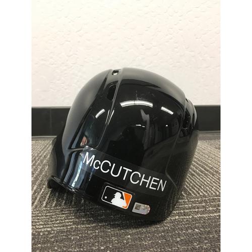 Photo of San Francisco Giants - 2018 Game Used Helmet - Andrew McCutchen Game Used Spring Training Helmet (Size 7 1/4)