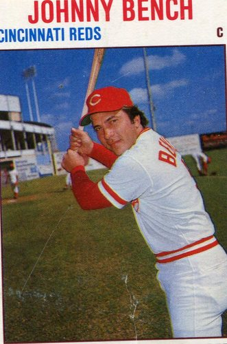 Photo of 1979 Hostess #128 Johnny Bench Hall of Fame Class of 1989